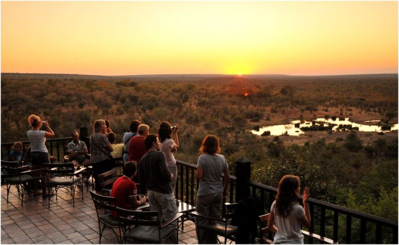 Sundowners at Victoria Falls Safari Lodge-1362570710